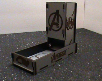Fold-Down Dice tower/Roller with flip up tower and dice storage, Avengers, Zelda