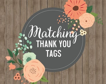 Matching Thank You Tags!!!