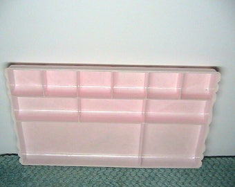 Tray, Display Tray, Shabby Chic Pink Marbleized Display Tray, Jewelry Tray, Makeup tray
