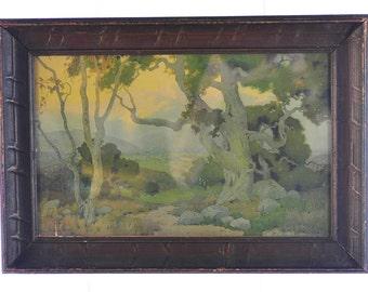 "Marion Wachtel ""THe Oaks of Santa Paula""Original 1917 Volchrome print -NICE!!"