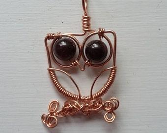 Googly Eyed Owl Pendant