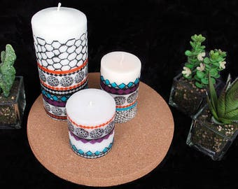 Candles with pictures Embellished candles Vanilla candles for wedding custom favor braids maid mother's day gift Personalise your own candle