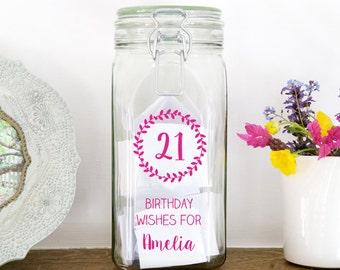 Personalised Birthday Wish Jar