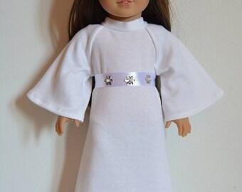 "Handmade Doll Clothes Star Wars Princess Leia Costume fits 18"" American Girl Dolls Halloween"