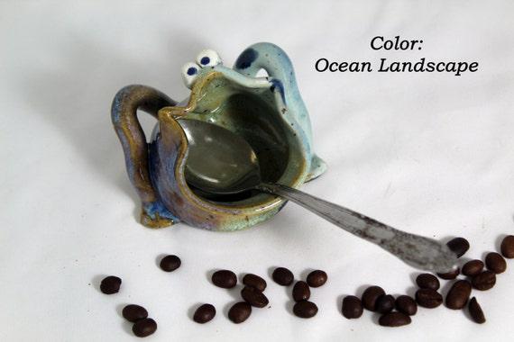 Frog Spoon Rest, Toothpick, Qtip, key, tea bag, paper clip holder