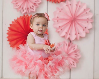 Baby Girls Birthday Tutu Outfit | Pink Dress | Cake Smash | Baby Girl Clothes