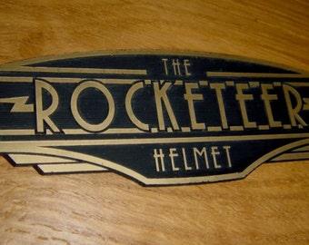 ROCKETEER HELMET Display Nameplate Placard!