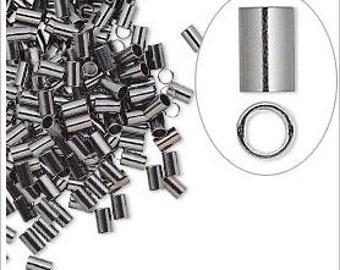 Gunmetal-Plated Brass Crimp Tubes 3x2mm x 1.4mm You pick Quantity
