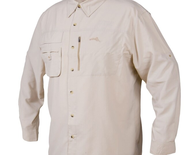 Large Natural Gear Long Sleeve Vented Hiking Shirt
