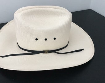 Vintage white cowboy hat by Bailey • Size 6 1/2