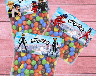 80% OFF SALE ladybug Bag Toppers, ladybug Goodie Bags, ladybug Treat Bags, ladybug Party, Bag Toppers