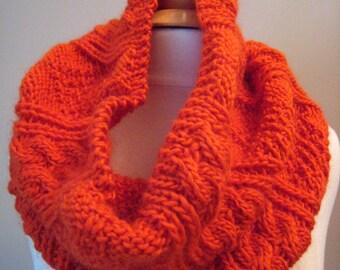 Sweet Orange Cowl --knitting Pattern