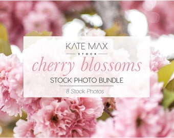 Cherry Blossom Spring Flowers / Styled Stock Photos /8 KateMaxStock Flower Branding Images for Your Business
