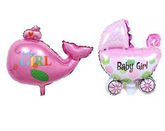 "set n. 2 balloons: ""Stroller + Whale"""