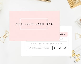 Lash Extensions Business Card Template Instant Download Photoshop Template PSD Editable Template For Photographers Branding Photography