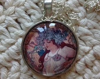 Autumn Mucha Necklace
