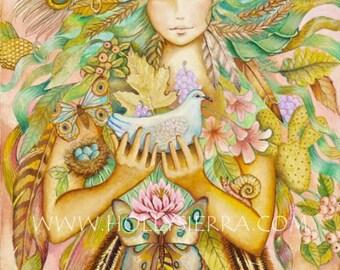 Gaia - A Fine Art Greeting Card