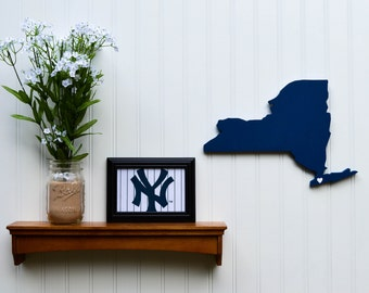 New York Yankees  State Heart  wall art handcrafted wood with official team colors  sc 1 st  Etsy & Yankee wall art | Etsy