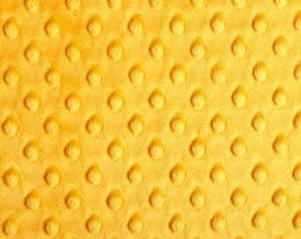 Minky fabric, fabric velvet fabric with dots embossed fabric coupon mango