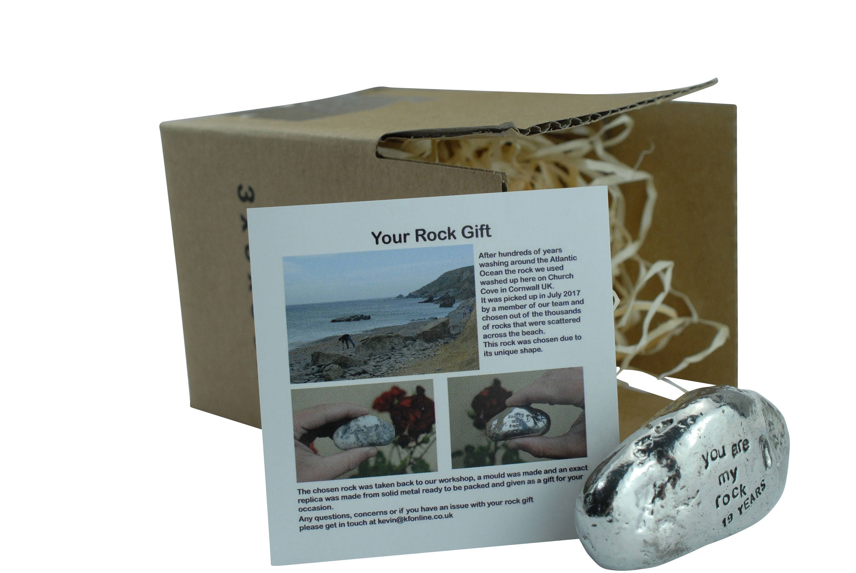 Gift For 19th Wedding Anniversary: 19th Anniversary You Are My Rock Gift Idea Solid Metal Heavy