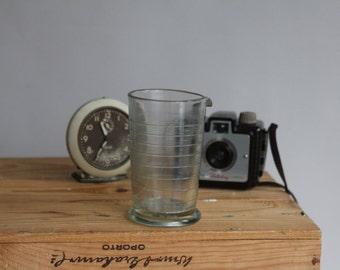 Vintage Dark Room Clear Glass Half Pint Measuring Beaker