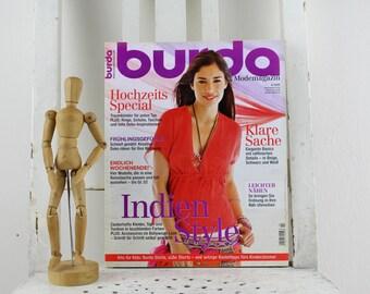 Burda Special Mode Magazin 4/2009 komplett mit Beiheft und Schnittmuster Vintage Magazin Zeitschrift Zeitung zum Nähen auf Deutsch