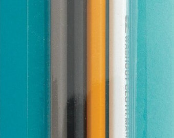 Quilting Pencil Pack of 4 White Yellow Black Grey