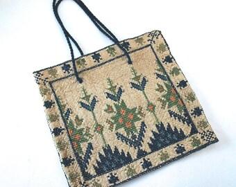 Vintage Cross-Stitch Greece Delicate Purse *SALE*