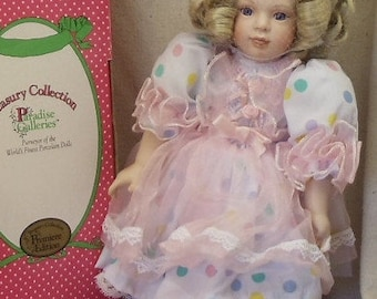 "Vintage Paradise Galleries Collectible Porcelain Doll,""Sugar"",Blond,Treasury Collection,Handcrafted,Handpainted, COA,NEW LISTING!!!, #VB7195"
