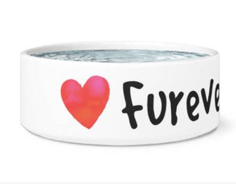 Furever Friend Ceramic Dog Bowl. Unique Dog Bowl, Gift for Dog, Rescue Dog Gift, Pet Bowl