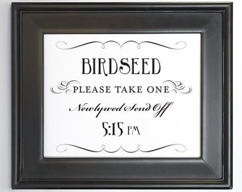 Uptown photo booth printable sign wedding decor diy you print birdseed send off printable sign 515 pm diy digital file pdf do it yourself solutioingenieria Images