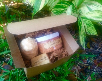 Unique Valentine's Day Gift for Her - Spa Gift Set Honeydew, Handmade gift set for her, Gift for her, Homemade gift, Gift under 30