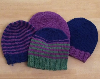 Simple Knitted Hats