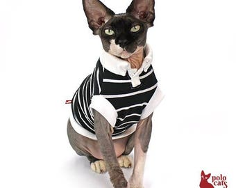 Cat clothes Sphynx Cat cloting Polocats | Chic Black Polo