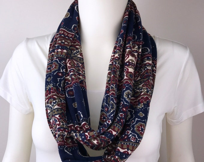 Infinity tube scarf Knit jersey Infinity tube scarf  cowl scarf circle scarf
