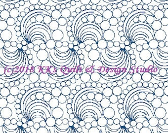 Bubble Swirlz - Longarm Digital Quilting Pattern  Edge to Edge Instant Download