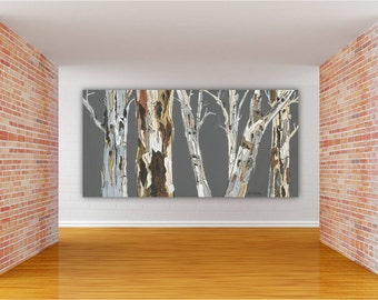 Oversized Extra LARGE Wall Art Landscape Print Tree Art Canvas Dining Room  Wall Art Office Huge