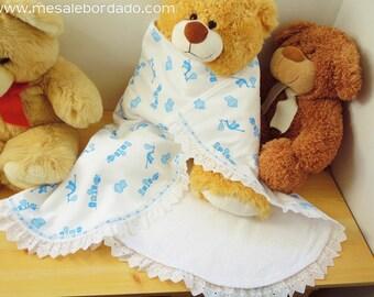 Receiving Blanket, baby boy blanket, baby blanket, baby shower blanket, baby shower party, baby shower gift, blue blanket, boy blanket