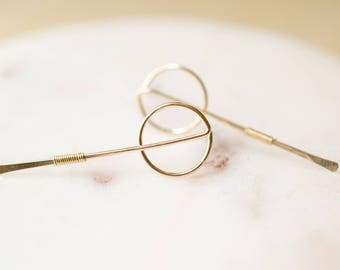 Gold Filled Geometric Post Earrings Simple Gold Filled Earrings Gold Filled Architectural Earrings Gold Filled Minimalist Earrings