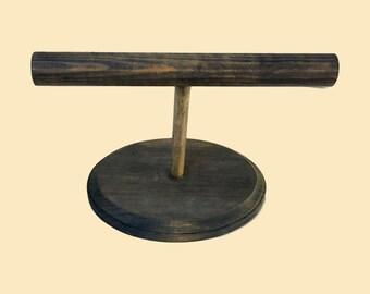 6 inch Wood Bracelet Stand, Jewelry Display, Bracelet Display, Bracelet Holder Oval - 10 color choices