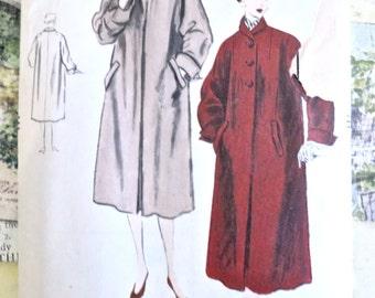 Vintage 1950s Womens Coat Pattern  - Vogue 7737