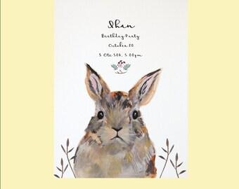 Baby bunny invitation