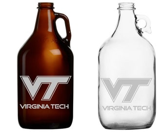 Virginia Tech- Beer Mug - Pint Glass - Growler - Shot - Etched - tournament - basketball