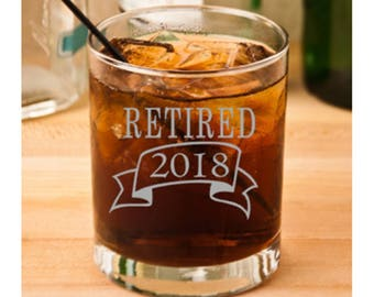 Retirement Glass, Retirement Gift, Retirement Gift for Man, Retirement Party,  Retirement for Him, Boss Retirement, Retirement Gift Idea