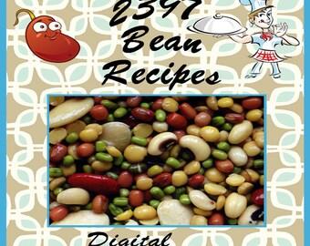 2397 Bean Recipes E-Book Cookbook Digital Download