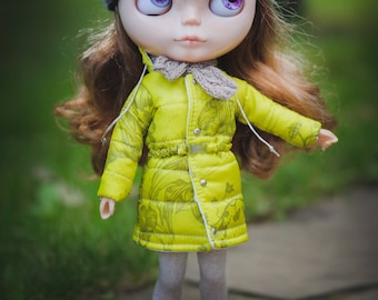 Blythe winter lime coat / jacket by BlablaBlythe