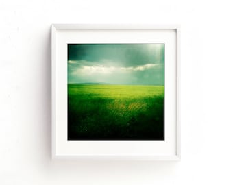 """landscape photography, landscape prints, abstract, large art, large wall art, modern, colorful, fine art photography, art - """"Green Fields"""""""