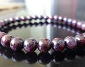 Genuine GARNET bead bracelet for Men or Women (On Stretch) AAA Quality 6mm