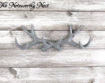 ANY COLORAntler Jewelry Hanger / necklace holder / Necklace hook / Antler decor / gray antler hook / bedroom decor / bathroom decor