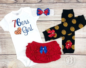 76ers Girl, Baby Basketball Outfit, Cheerleader Game Day Outfit